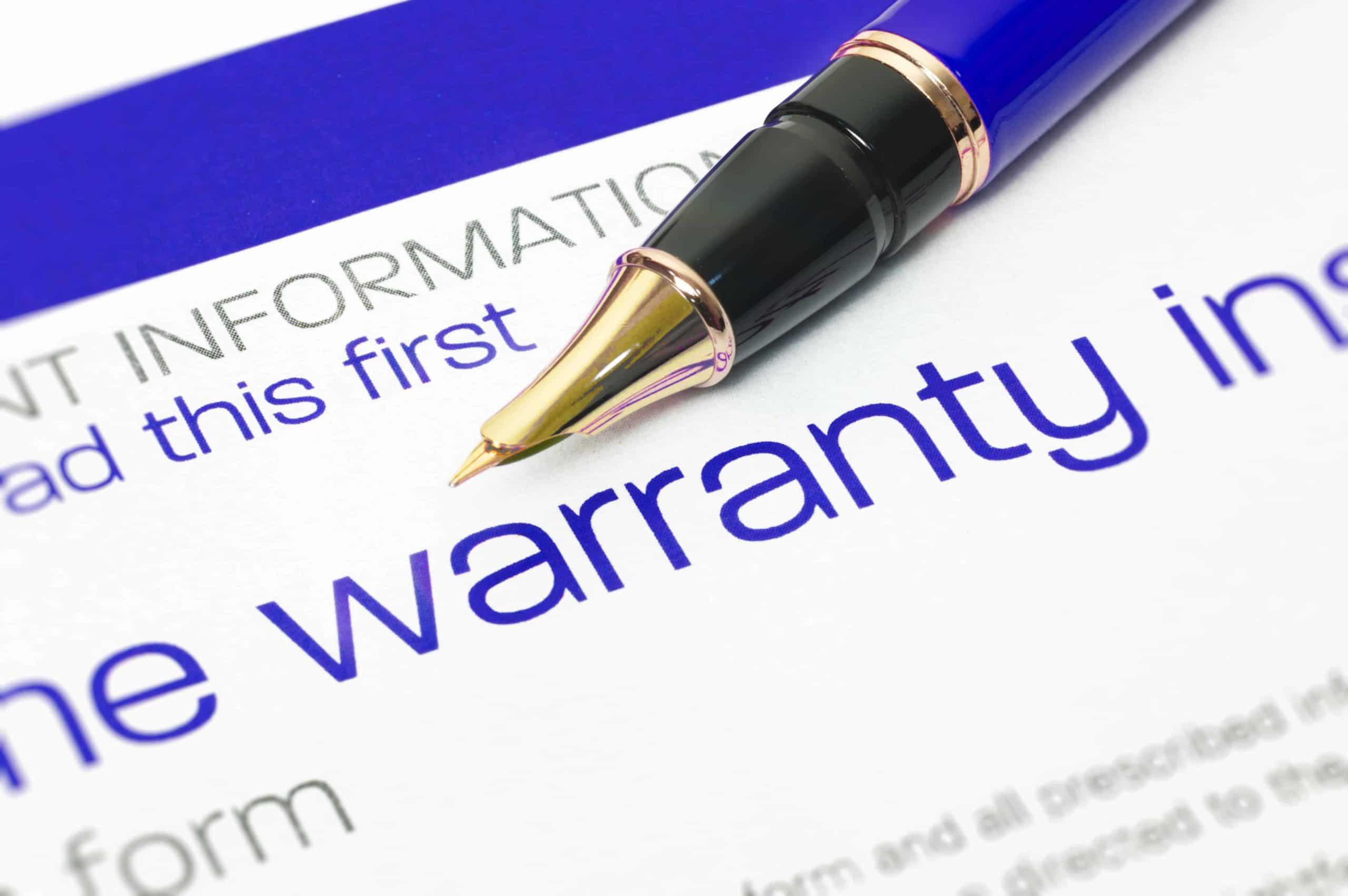 Full Scale Warranty Included